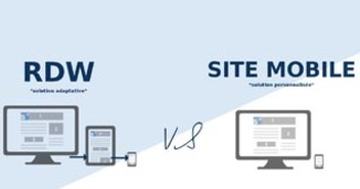 Le responsive design vs site mobile